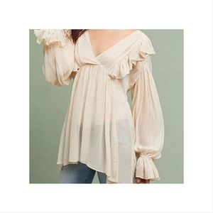 Anthropologie Maeve Boho Cream Wynne